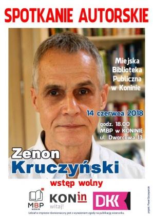 """Spotkanie z Zenonem Kruczyńskim, autorem """"Farba znaczy krew"""""""