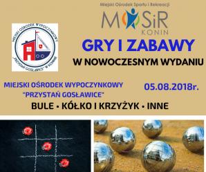 MOSiR zaprasza do ośrodka w Gosławicach na grę w bule