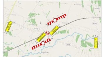Przez awarię zamknięty przejazd kolejowo-drogowy w Milinie