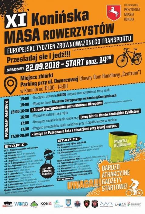 Podczas Masy Rowerzystów nazwą Rondo Konińskich Cyklistów