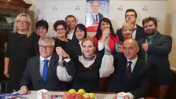 Konin. Czołowi działacze PiS poparli kandydata na prezydenta