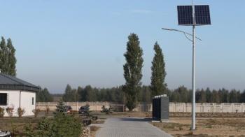 Powiększony cmentarz w Słodkowie Kolonii. Ogrodzenie i parking