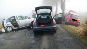 Kochowo. Wypadek trzech samochodów osobowych we mgle