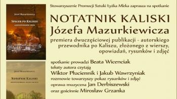 """Premiera """"Notatnika Kaliskiego"""" Józefa Mazurkiewicza"""