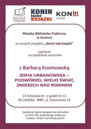Spotkanie autorskie z Barbarą Kosmowską w MBP