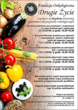 Bezpłatne warsztaty żywieniowe dla pacjentów onkologicznych