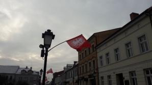 Konin. Flagi w setną rocznicę wybuchu Powstania Wielkopolskiego