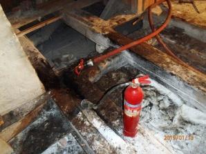 Ląd. Groźny pożar w klasztorze. Zaalarmował monitoring obiektu