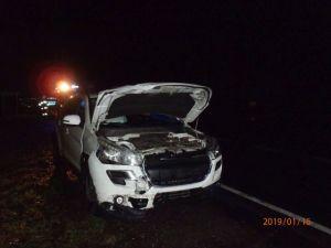 Cienin Zaborny. Poranny wypadek trzech samochodów na K92