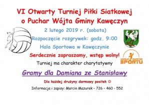 Kawęczyn. Zagrają turniej w siatkówkę dla Damiana ze Stanisławy