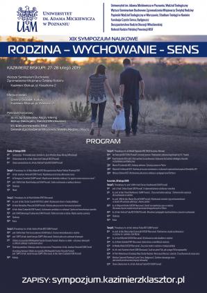 """XIX Sympozjum naukowe """"Rodzina - Wychowanie - Sens"""""""