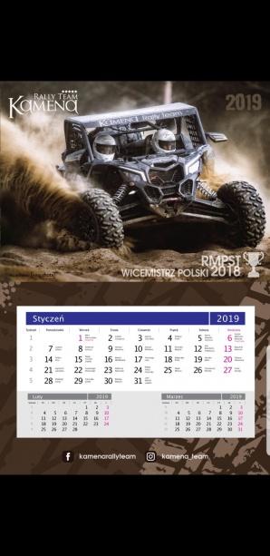 Wygraj kalendarz rajdowy od Kamena Rally Team! (konkurs)