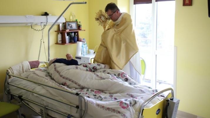 Licheń. Światowy Dzień Chorego. Wspólna modlitwa w hospicjum