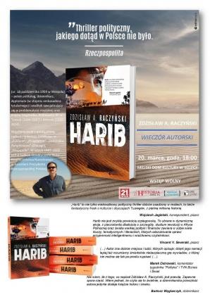 """Thriller polityczny pod tytułem """"Harib"""" i spotkanie z autorem"""