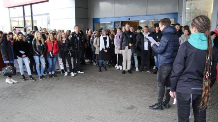 Konin.Młodzież protestowała przeciw zmianom klimatycznym