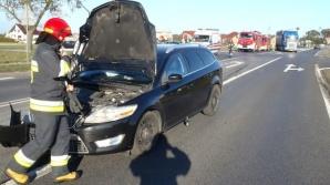 Wypadek w Wólce. Zderzyły się tam dwa samochody osobowe