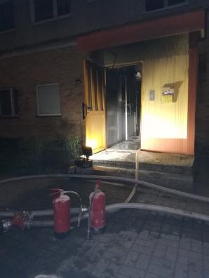 Pożar piwnicy w budynku wielorodzinnym. Nikomu nic się nie stało