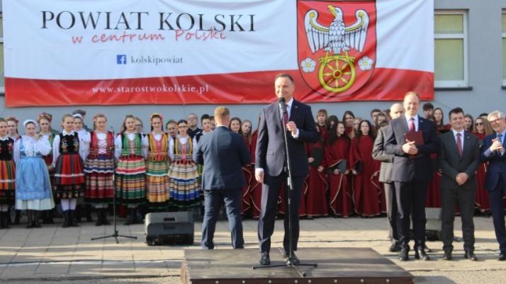 Pierwsza wizyta prezydenta RP Andrzeja Dudy w Kole