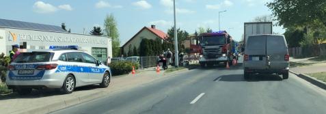 Konin. Wypadek na ul. Zagórowskiej. Ranna motorowerzystka