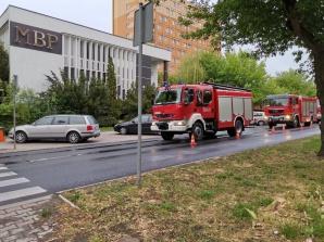 Pożar w Miejskiej Bibliotece Publicznej. Ogień ominął zbiory