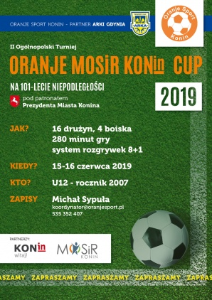 II Oranje MOSiR Konin Cup już w ten weekend. Zagra 250 piłkarzy