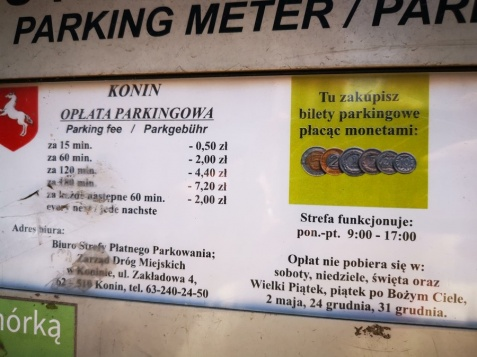 Konin. Strefa Płatnego Parkowania od dzisiaj z nowymi stawkami