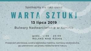 """Warsztaty i relaks nad rzeką, czyli projekt """"Warta sztuki"""" w Koninie"""