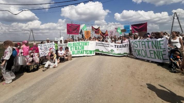 Młodzieżowy strajk klimatyczny i obóz dla klimatu na odkrywkach