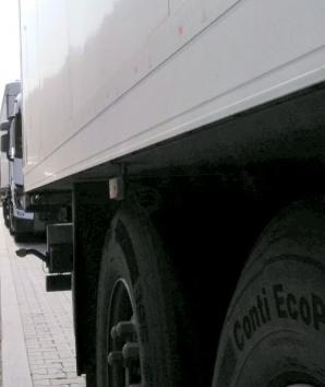 Żdżary. Ukraiński przewoźnik jechał z pękniętą tarczą hamulcową