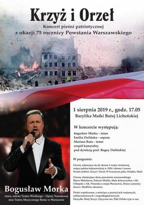 """Koncert pieśni patriotycznej """"Krzyż i Orzeł"""" w Licheniu"""