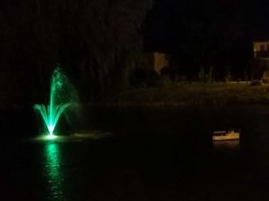 W Lubomyślu powstała podświetlana fontanna