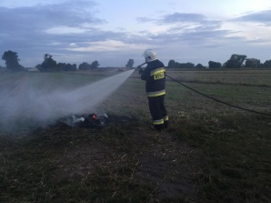 Strażacy ochotnicy z gm. Rychwał w akcji. Dwa pożary jednego dnia