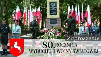 Zaproszenie na obchody 80. rocznicy wybuchu II Wojny Światowej