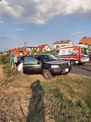 W Powidzu doszło do wypadku trzech samochodów osobowych
