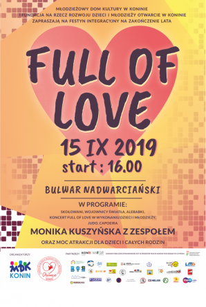 Integracyjny Full Of Love z wokalistką Moniką Kuszyńską na czele.
