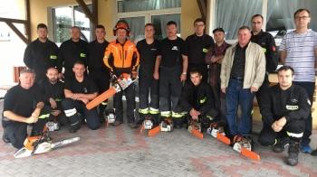 Kurs pilarzy dla strażaków - ochotników z powiatu słupeckiego