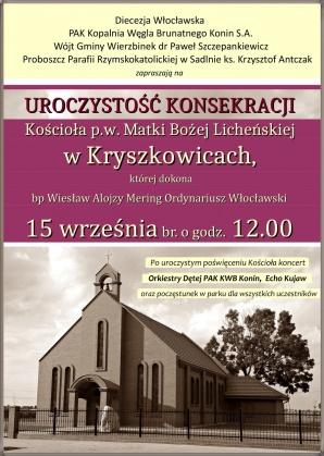 Kryszkowice. Poświęcenie nowego kościoła w pobliżu odkrywki