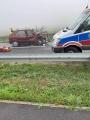 Wierzbinek. Wypadek we mgle. Poszkodowane dwie osoby