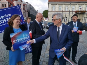 Konin. Kandydaci PiS przekonywali do głosowania na Polskę plus
