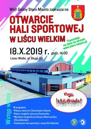 Otwarcie hali sportowej w Liścu Wielkim