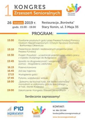 W Koninie odbędzie się pierwszy Kongres Zrzeszeń Senioralnych