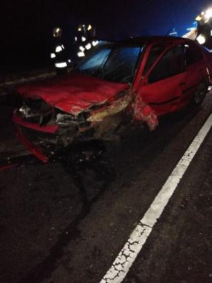 Wypadek w Spławiu. Zderzyły się tam dwa samochody osobowe