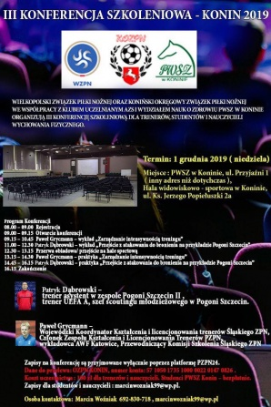 Konferencja szkoleniowa już po raz trzeci odbędzie się w Koninie