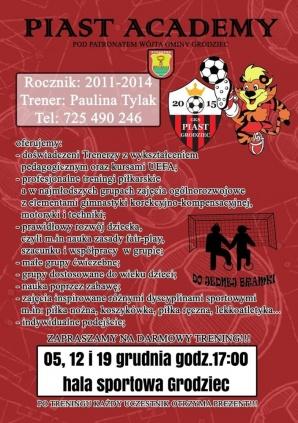 Grodziec. Rusza Piast Academy. Ogólnorozwojowe zajęcia dla dzieci