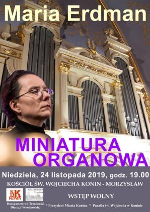 """Koncert muzyki polskiej. """"Miniatura organowa"""" w św. Wojciechu"""