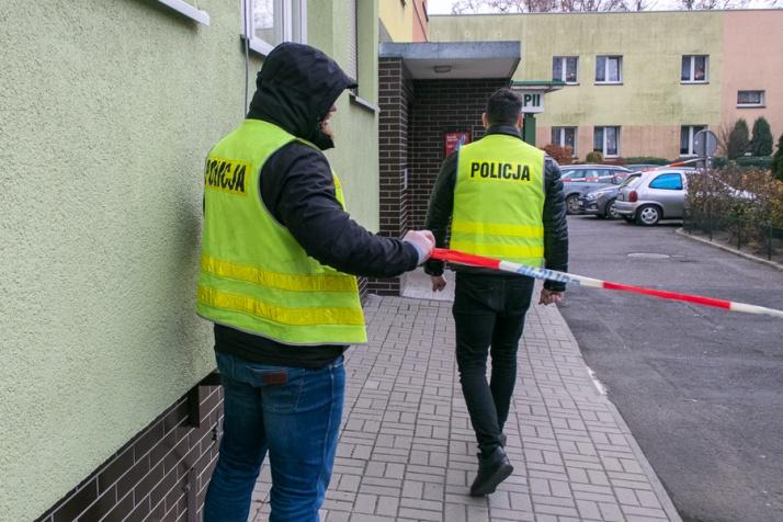 Śledczy z łódzkiej prokuratury pracowali przy ul. Wyszyńskiego