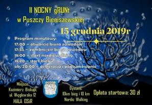 Sportowy weekend: Nocny bieg gRUNt w Puszczy Bieniszewskiej