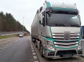 Autostrada A2. Kierowca ukarany za źle zabezpieczony ładunek