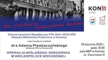 Wykład dra Adama Pleskaczyńskiego
