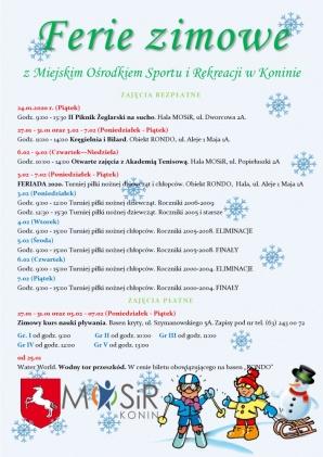 Sportowe ferie z MOSiR. Bezpłatne zajęcia w styczniu i w lutym